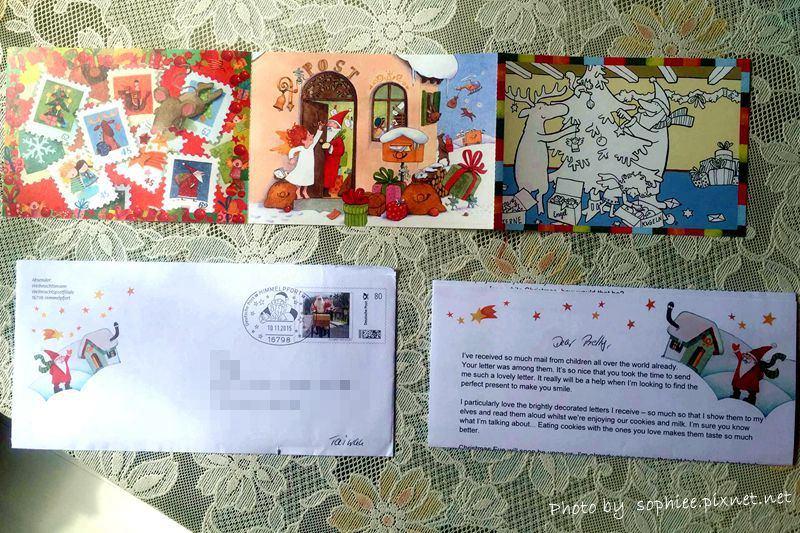 ☆收到來自北極的信!聖誕老公公寄信來了~
