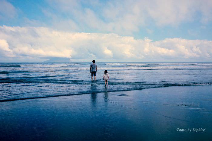 〔宜蘭頭城〕外澳海水浴場(外澳海灘)。踏入人間仙境