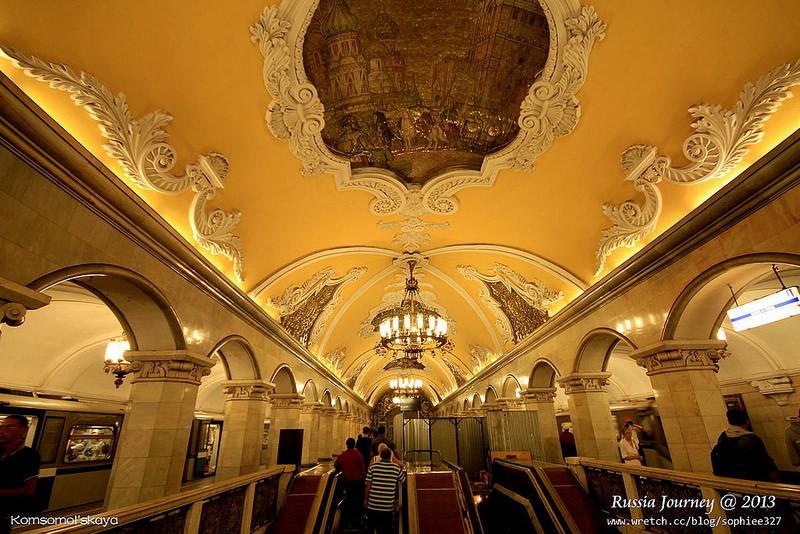 [Russia]莫斯科地鐵。華麗的地下宮殿