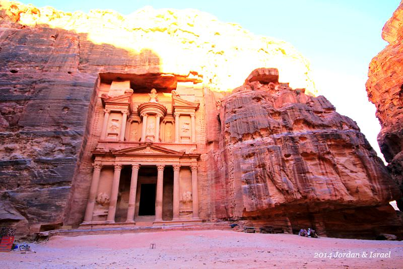 ﹝2014以約遊記﹞夢幻玫瑰城『佩特拉』(Petra)。寶藏庫(Treasury)騎驢記