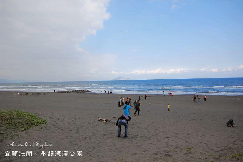 [宜蘭壯圍]永鎮海濱公園。遠眺龜山島.自行車步道