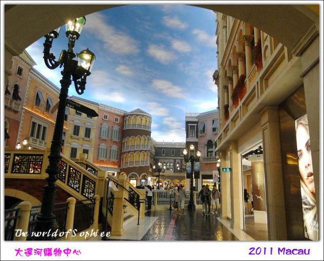 【澳門】威尼斯人大運河購物中心—沒有帥哥的貢多拉!